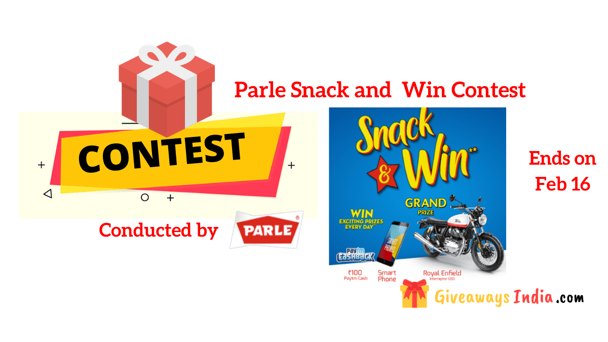 Parle Snack and Win Contest