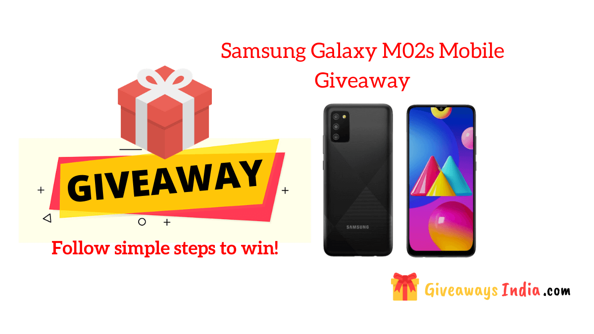 Samsung Galaxy M02s Mobile Giveaway