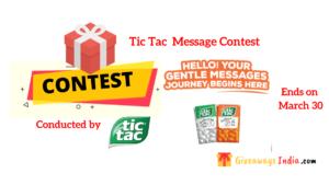 Tic Tac Gentle Message Contest