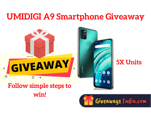 UMIDIGI A9 Smartphone Giveaway