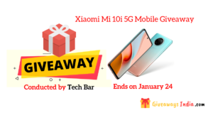 Xiaomi Mi 10i 5G Mobile Giveaway