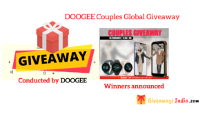DOOGEE Couples Global Giveaway