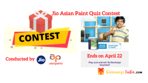 Jio Asian Paint Quiz Contest