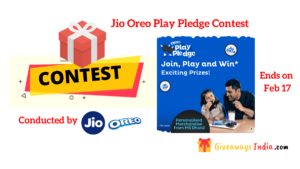 Jio Oreo Play Pledge Contest
