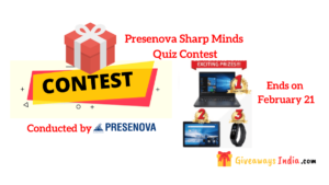 Presenova Sharp Mind Quiz Contest