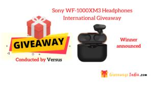 Sony WF-1000XM3 Headphones International Giveaway