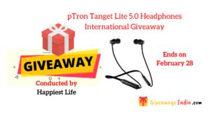 pTron Tangent lite 5.0 wireless headphones international giveaway