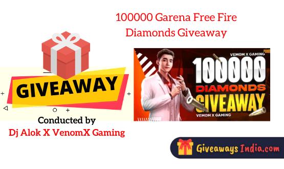 100000 Garena Free Fire Diamonds Giveaway