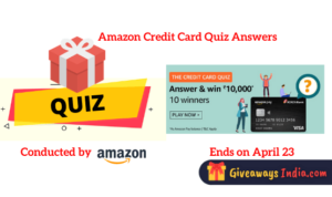 Amazon Credit Card Quiz Answers