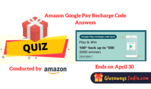 Amazon Google Pay Recharge Code Answers