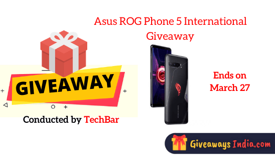 Asus ROG Phone 5 International Giveaway