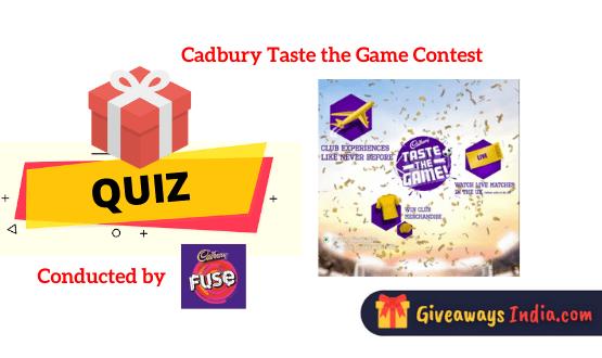 Cadbury Taste the Game Contest