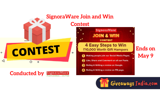 SignoraWare Join and Win Contest