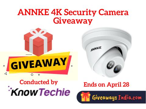 ANNKE 4K Security Camera Giveaway