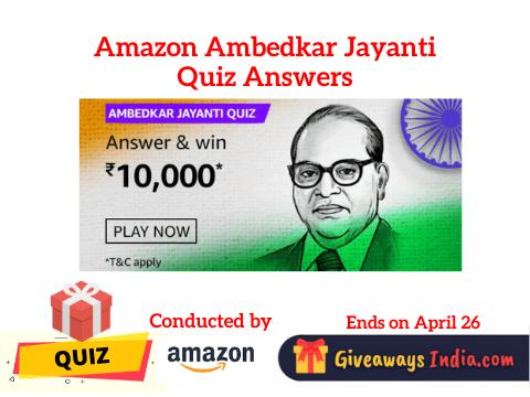 Amazon Ambedkar Jayanti Quiz Answers