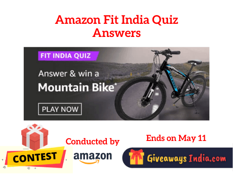 Amazon Fit India Quiz Answers
