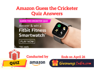 Amazon Guess the Cricketer Quiz Answers