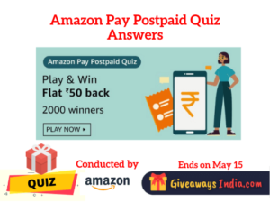 Amazon Pay Postpaid Quiz Answers