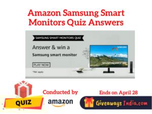 Amazon Samsung Smart Monitors Quiz Answers