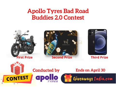Apollo Tyres Bad Road Buddies 2.0 Contest