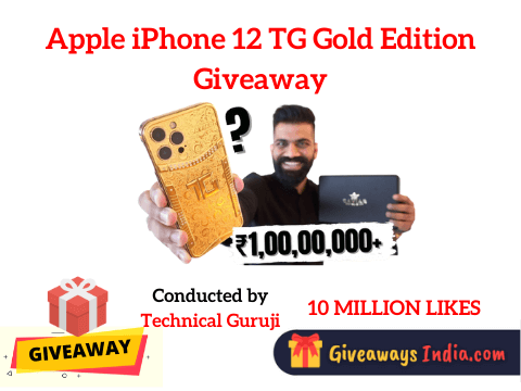 Apple iPhone 12 TG Gold Edition Giveaway