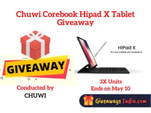 Chuwi Corebook Hipad X Tablet Giveaway