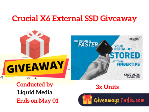 Crucial X6 External SSD Giveaway