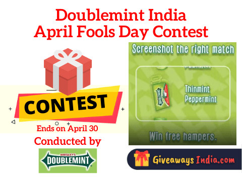 Doublemint India April Fools Day Contest