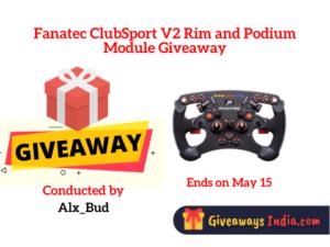 Fanatec ClubSport V2 Rim and Podium Module Giveaway