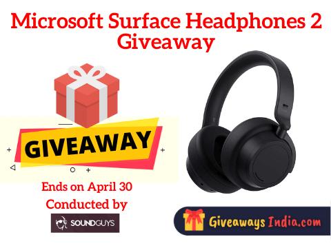 Microsoft Surface Headphones 2 Giveaway