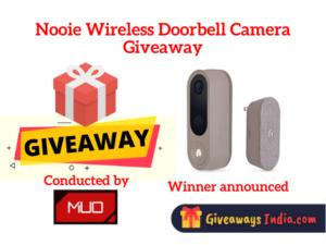 Nooie Wireless Doorbell Camera Giveaway
