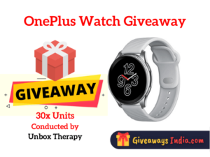 OnePlus Watch Giveaway
