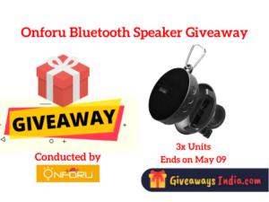 Onforu Bluetooth Speaker Giveaway