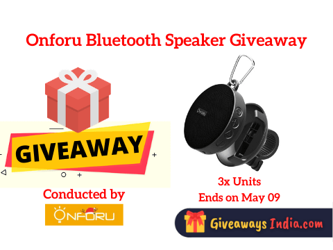 Onforu Bluetooth Speaker Giveaway