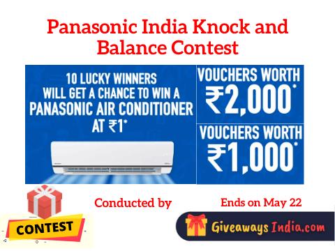Panasonic India Knock and Balance Contest