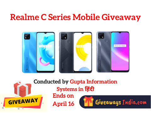Realme C Series Mobile Giveaway