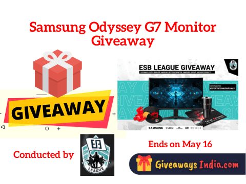 Samsung Odyssey G7 Monitor Giveaway