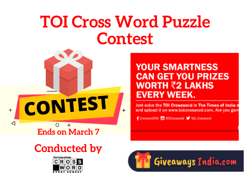 TOI Cross Word Puzzle Contest