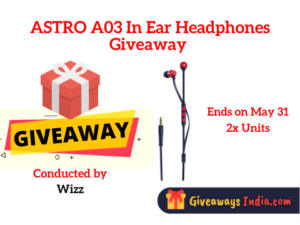 ASTRO A03 In Ear Headphones Giveaway