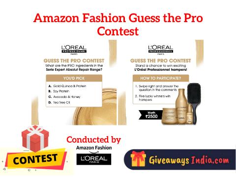 Amazon Fashion Guess the Pro Contest