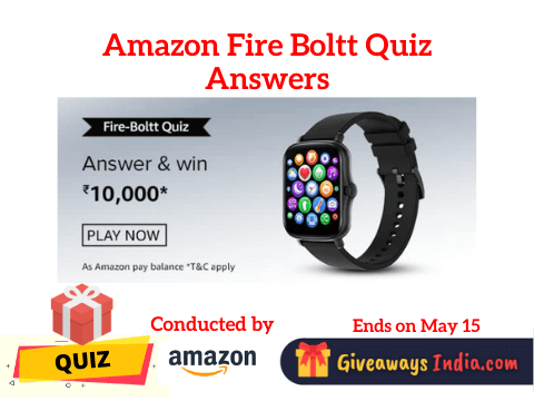 Amazon Fire Boltt Quiz Answers