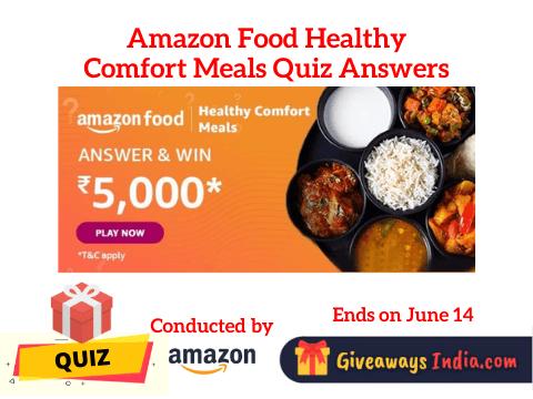 Amazon Food Healthy Comfort Meals Quiz Answers