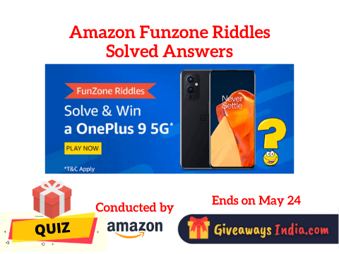 Amazon Funzone Riddles Solved Answers