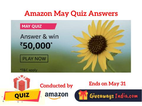 Amazon May Quiz Answers