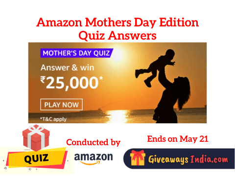 Amazon Mothers Day Edition Quiz Answers