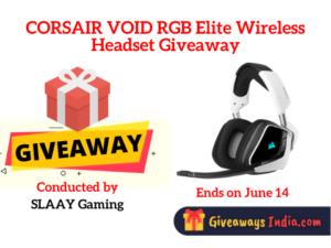 CORSAIR VOID RGB Elite Wireless Headset Giveaway