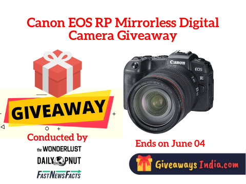 Canon EOS RP Mirrorless Digital Camera Giveaway