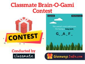 Classmate Brain-O-Gami Contest