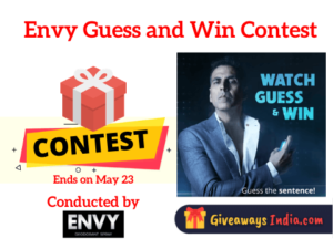 Envy Guess and Win Contest