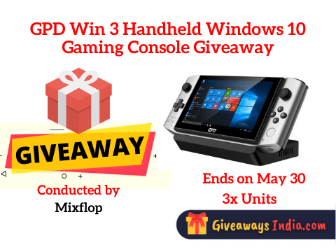 GPD Win 3 Handheld Windows 10 Gaming Console Giveaway